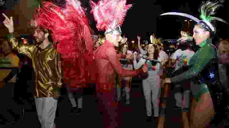 Desfila da Escola de Samba Alegria de Barcelona, em fevereiro de 2020 - Divulgação - Divulgação