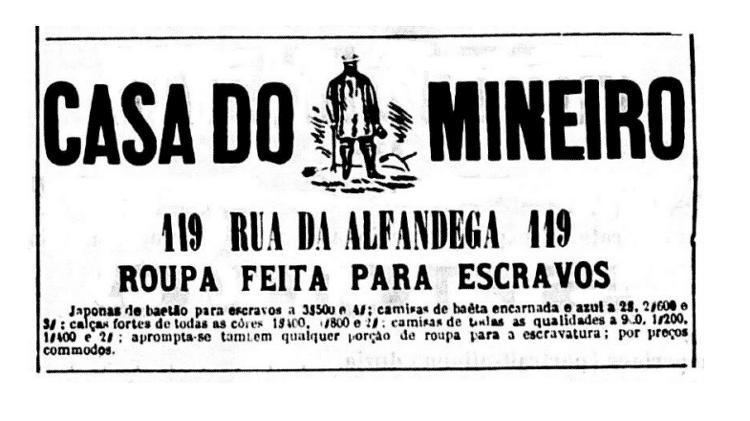 Roupas para escravos - Jornal da Tarde/Reprodução - Jornal da Tarde/Reprodução