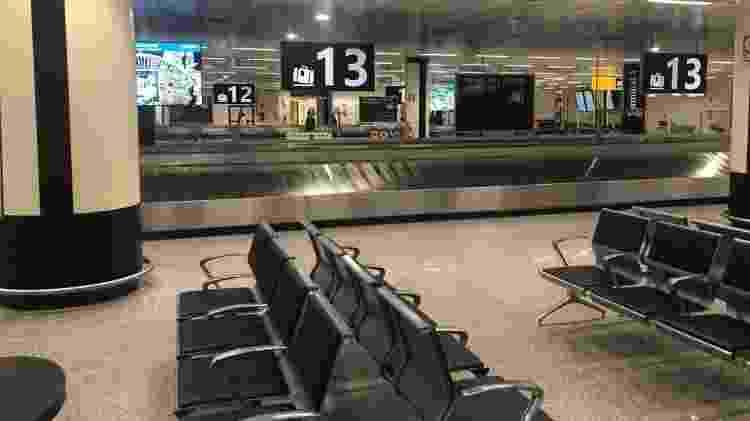 Esteiras vazias no aeroporto de Fiumicino, em Roma - Lucas Ferraz/UOL