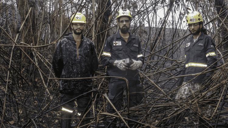 Voluntários do Grupo de Resgate de Animais em Desastre no Parque Estadual Juquery - Ricardo Matsukawa/UOL - Ricardo Matsukawa/UOL