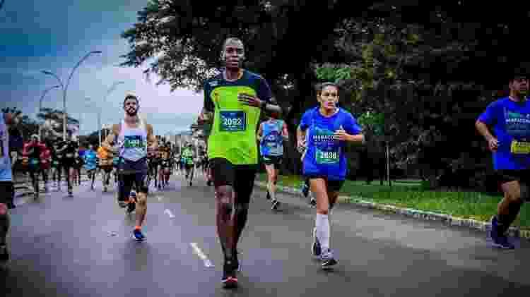 Oliver de Paula em maratona em Porto Alegre - Oliver de Paula/Arquivo pessoal - Oliver de Paula/Arquivo pessoal