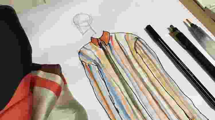 Croqui do estilista Jônatas Santos do Nascimento - Arquivo pessoal - Arquivo pessoal
