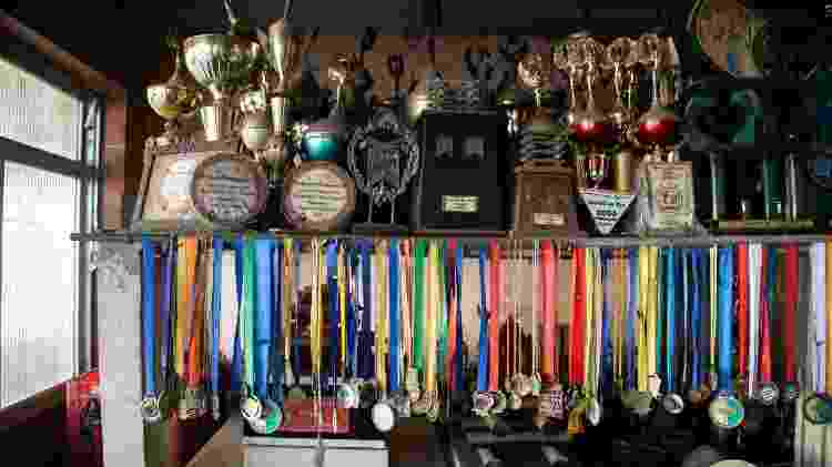 Medalhas e troféus ganhados pela Show de Ramos - Zô Guimarães/UOL - Zô Guimarães/UOL