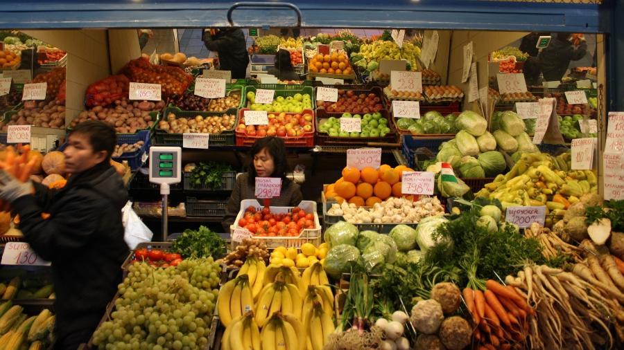 Mercado central de Budapeste, na Hungria - Foto: Mariana Veiga