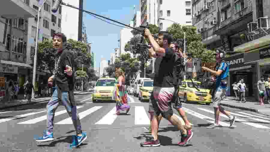 O cineasta Daniel Gonçalves e equipe - Divulgação