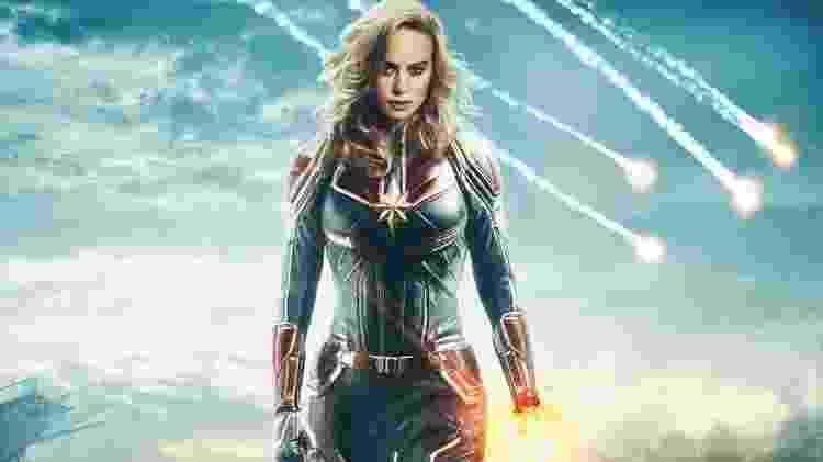 Cena do filme norte-americano Capitã Marvel, lançado agora em março - Divulgação - Divulgação