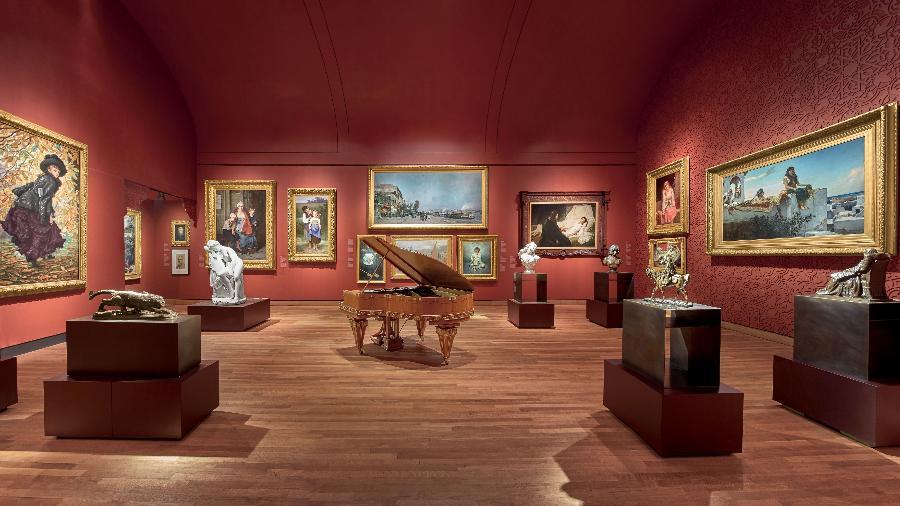 Os salões da Belle Époque, no 1º andar do Museu de Belas Artes de Montreal - Marc Cramer / Divulgação