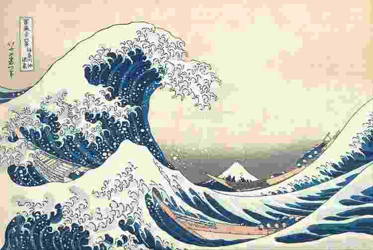 'Tsunami' (A grande onda de Kanagawa), de Katsushika Hokusai - Wikimedia Commons - Wikimedia Commons