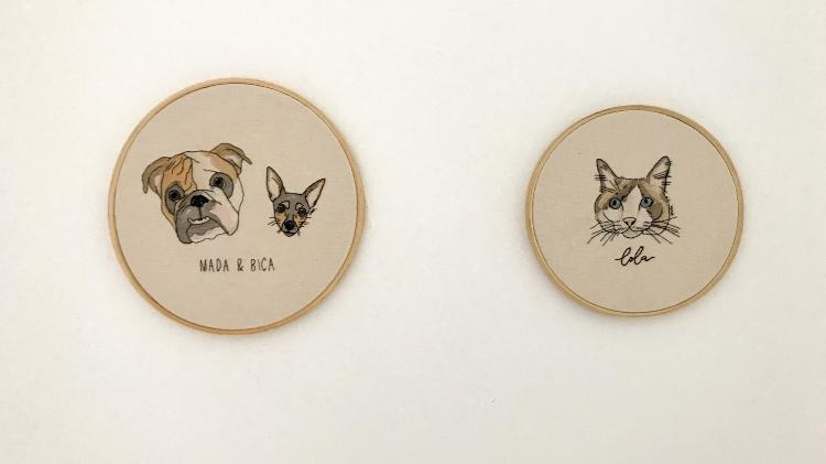 Arte com Mada, Bica e a gata Lola - Arquivo pessoal - Arquivo pessoal