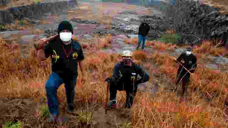 Gaudêncio Benites faz patrulhamento na Aldeia Bororó, na Reserva Indígena de Dourados (MS) - José Medeiros/UOL - José Medeiros/UOL