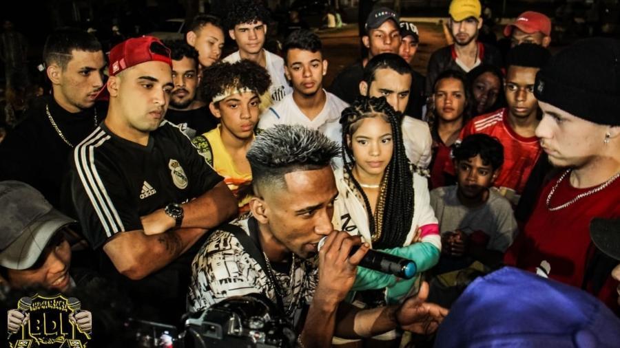 MD Black, na Batalha da Inácia realizada em agosto em Perus, bairro da zona noroeste de São Paulo - Ulisses Sulivan/Divulgação