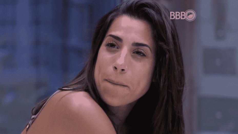 """5.fev.2016 - Juliana acredita correr o risco de ir para o próximo paredão do """"BBB16"""" - Reprodução/TV Globo"""