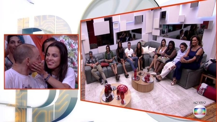 Pai de Emilly recusa abraço enviado por Marcos - Reprodução/ TV Globo