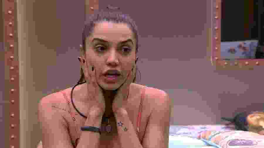 Paula pouco antes do início da prova do líder - Reprodução/Globoplay