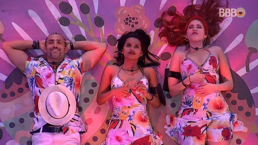 """Kaysar, Gleici e Ana Clara aproveitam festa """"Latina"""" - Reprodução/GlobosatPlay"""