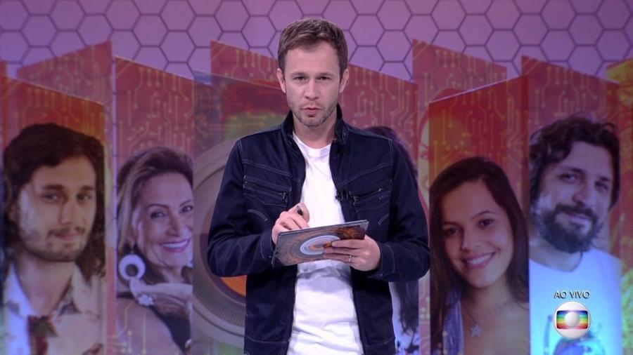 Tiago Leifert explica as regras da quinta prova do líder - Reprodução/TV Globo