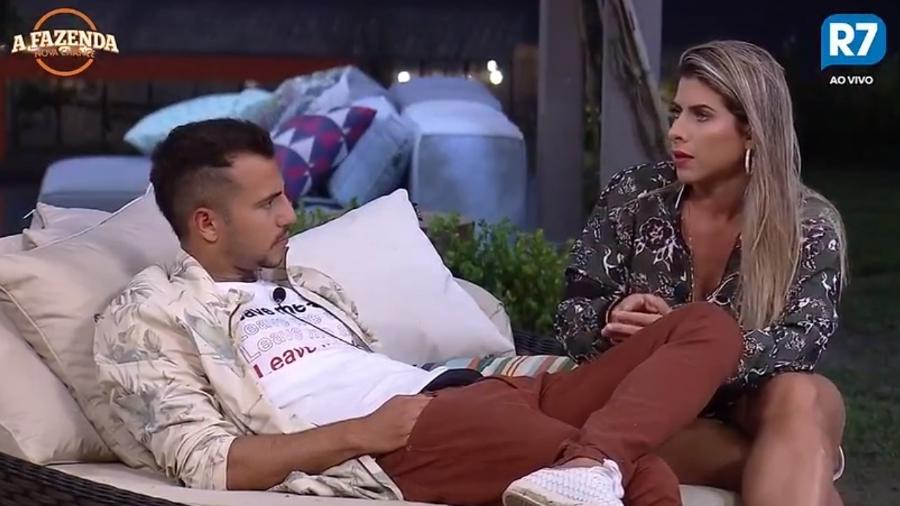 Ana Paula e Matheus conversam sobre Marcos - Reprodução/R7