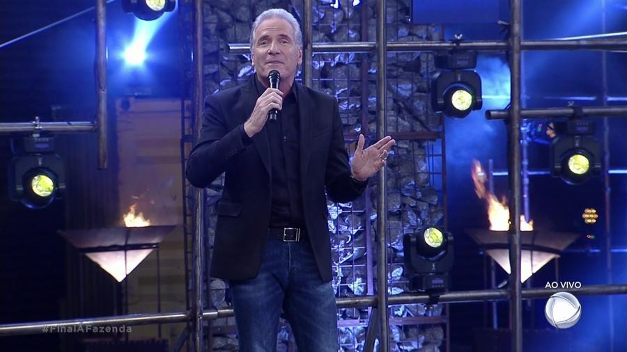"""Roberto Justus na final de """"A Fazenda 9"""" - Reprodução/Record"""