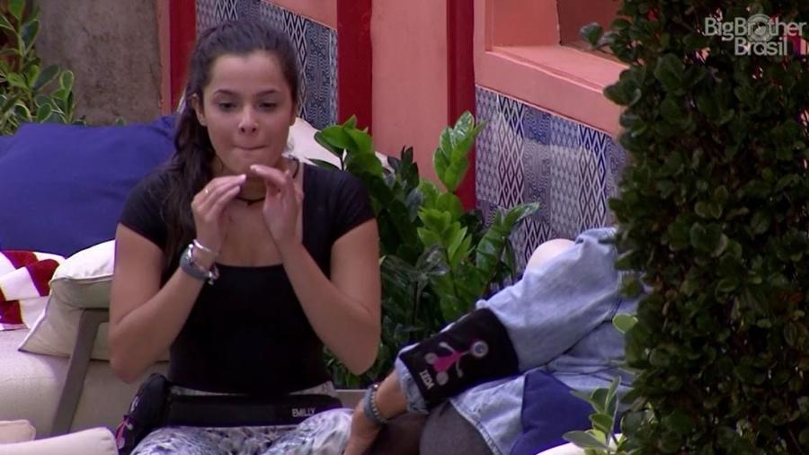 Emilly afirma que Deus lhe enviou a liderança da semana - Reprodução/TV Globo