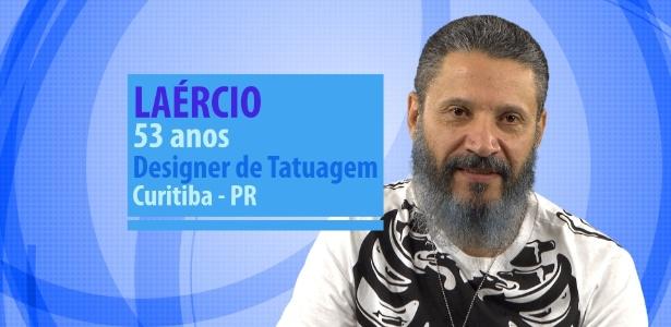 """Laércio, participante do """"BBB16"""", tem 53 anos, mora em Curitiba (PR) e é designer de tatuagens - Divulgação/TV Globo"""