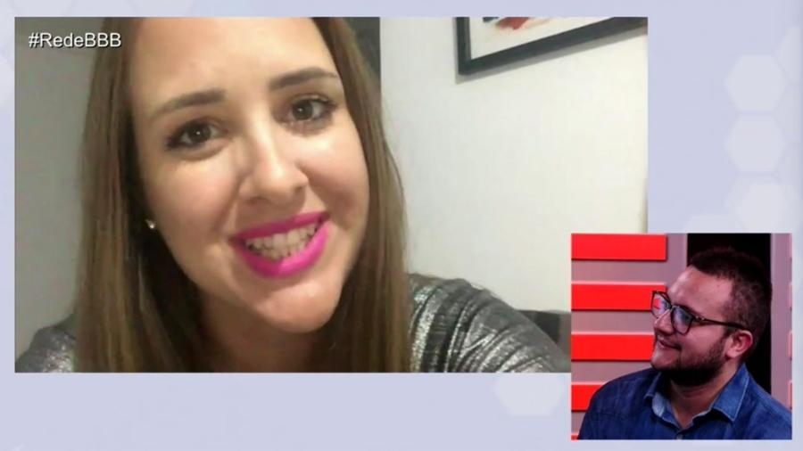 """Patrícia conversa com Diego durante o programa """"RedeBBB"""" - Reprodução/Gshow"""