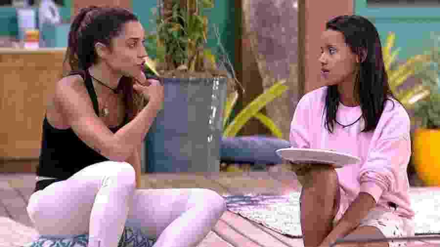 Paula e Gleici conversam sobre Wagner - Reprodução/GloboPlay