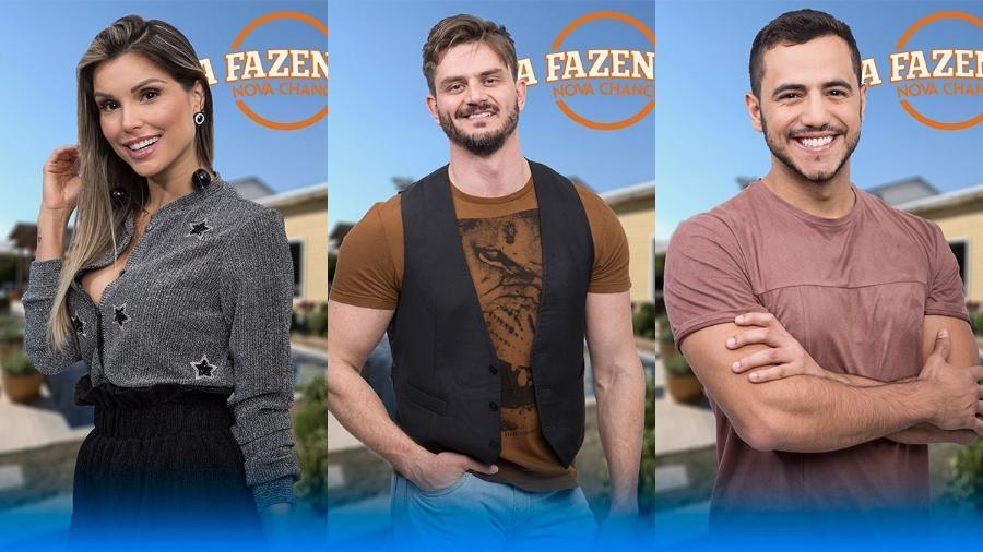 """Flávia, Marcos e Matheus são os finalistas de """"A Fazenda 9"""" - Montagem/Antonio Chahestian/Record TV"""