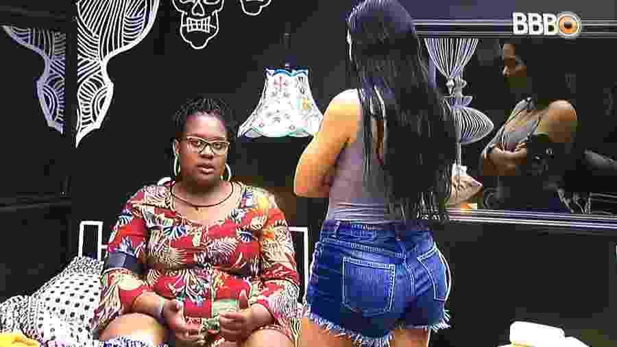 Roberta e Mayara falam que Gabriela pode ser uma atriz contratada - Reprodução/TV Globo