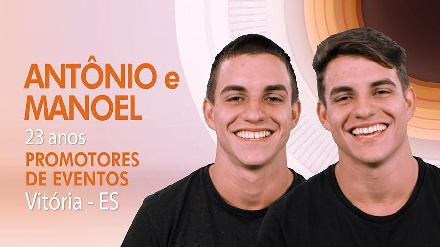 Os gêmeos Antonio e Manoel do BBB17 - Divulgação/TV Globo