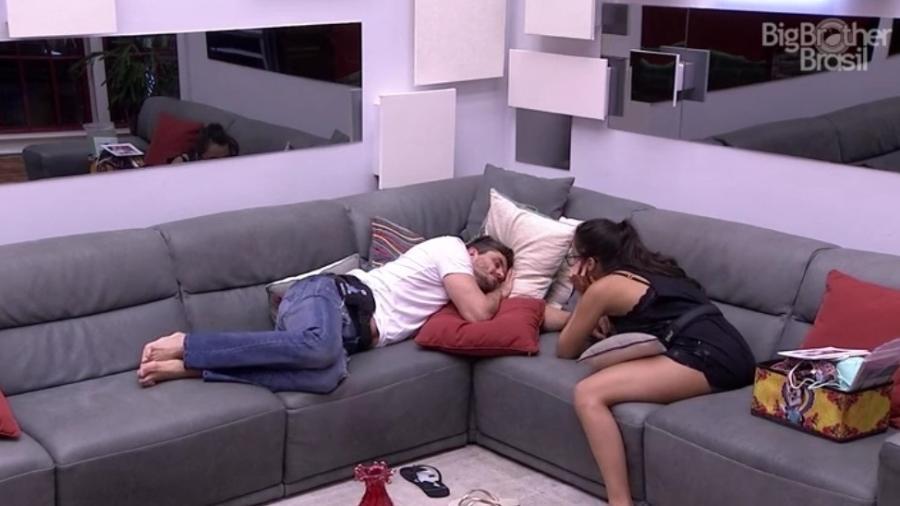 Emilly e Marcos criticam Ilmar - Reprodução/TV Globo