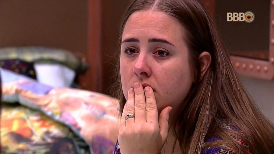 Patrícia chora após votação de paredão - Reprodução/GloboPlay