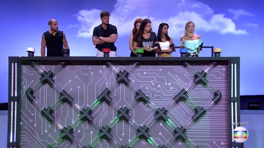 Brothers participam da décima segunda prova do líder  - Reprodução/TvGlobo