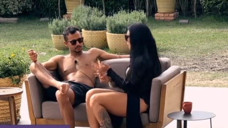Matheus e Monique conversam sobre Marcos Harter - Reprodução/R7
