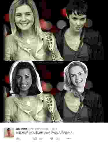 """10.fev.2015 - Internauta cria meme e compara Ana Paula e Juliana a Nina e Carminha, de """"Avenida Brasil"""" - Reprodução/Twitter"""