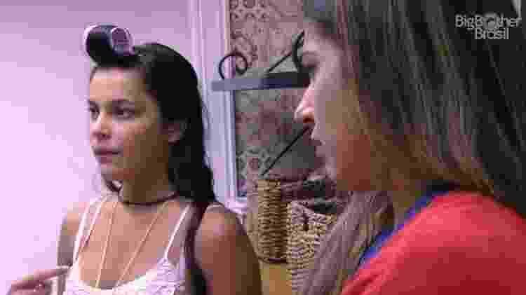 Emilly entra na despensa com Marcos e Vivian - Reprodução/TV Globo - Reprodução/TV Globo