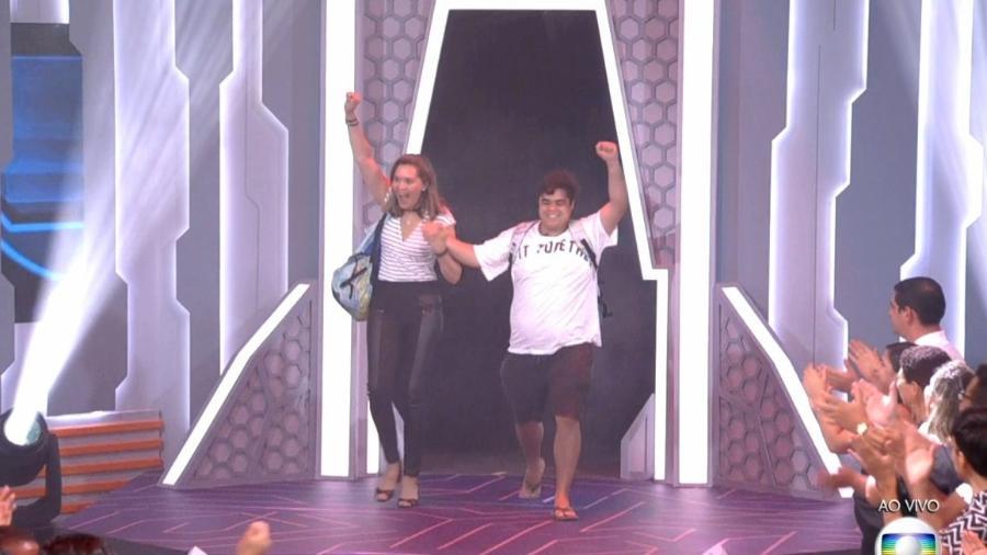 """Eva e Jorge deixam o """"BBB18"""" após votação  - Reprodução/TvGlobo"""