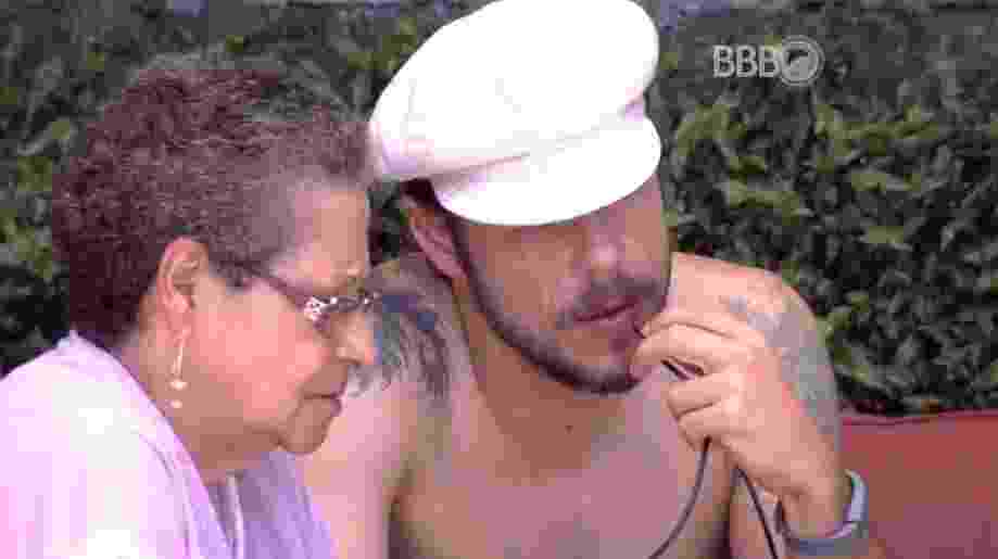 15.fev.2016 - Tamiel diz não entender o motivo pelo qual Geralda votou nele para o paredão, a votação foi realizada no último domingo (14) - Reprodução/ TV Globo