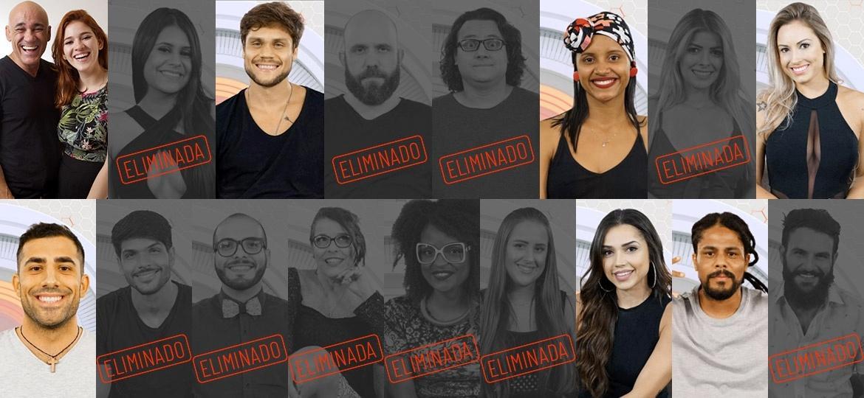 Participantes que continuam na disputa após décimo paredão  - Montagem/Globo/ Paulo Belote