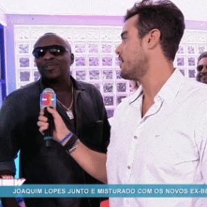 """6.abr.2016 - William, que disputou a vaga na casa com Matheus, disse ter se divertido muito na festa de encerramento do """"BBB16 - Reprodução/ TV Globo"""