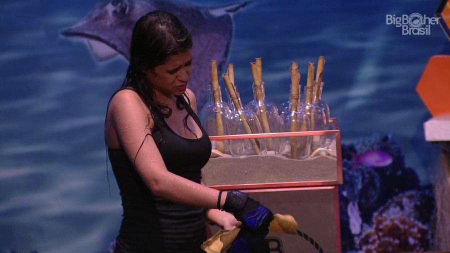 Ana Paula é a primeira eliminada da terceira prova do líder - Reprodução/GloboPlay