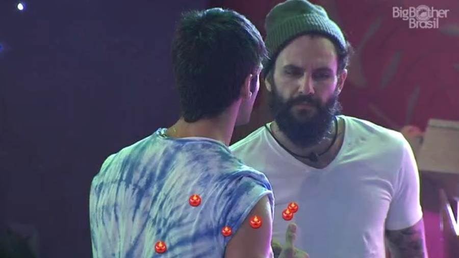 Lucas diz para Wagner que foi julgado por brothers - Reprodução/Tv Globo