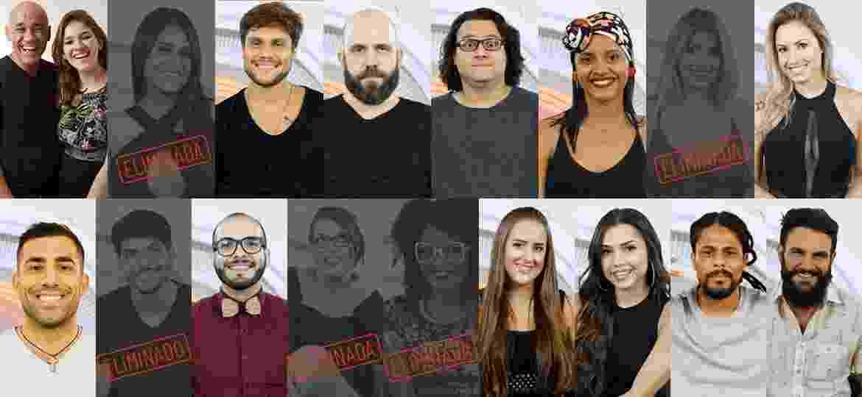 Participantes que continuam na competição depois do quinto paredão  - Montagem/Globo/ Paulo Belote