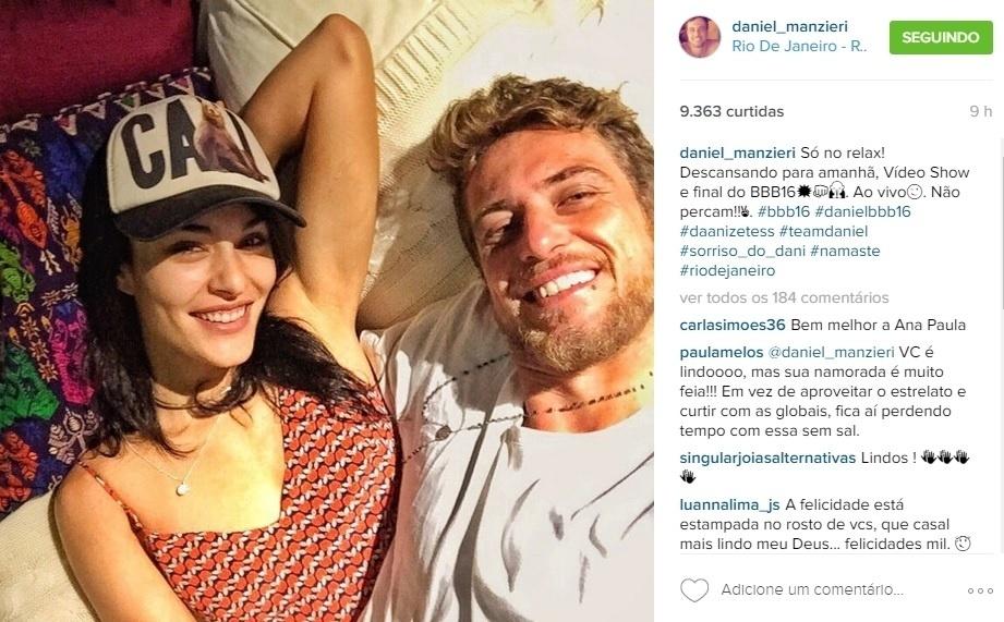 5.abr.2016 - Ex-BBB Daniel avisa que estará ao vivo no