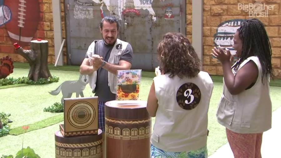 "Rômulo vence prova e se torna o sétimo anjo do ""BBB17"" - Reprodução/TV Globo"