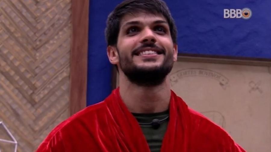 Lucas comemora quarto do líder  - Reprodução/Tv Globo
