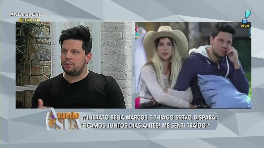 """Thiago Servo fala sobre Ana Paula Minerato no programa """"A Tarde É Sua"""" - Reprodução/RedeTV!"""