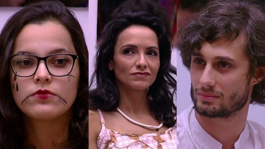 """Emilly, Marinalva e Pedro: na berlinda do sexto paredão do """"BBB17"""" - Reprodução/TVGlobo"""