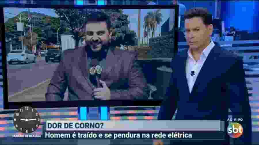 Marcão do Povo e Felipe Macedo comentam caso ocorrido em Londrina  - Reprodução / TV