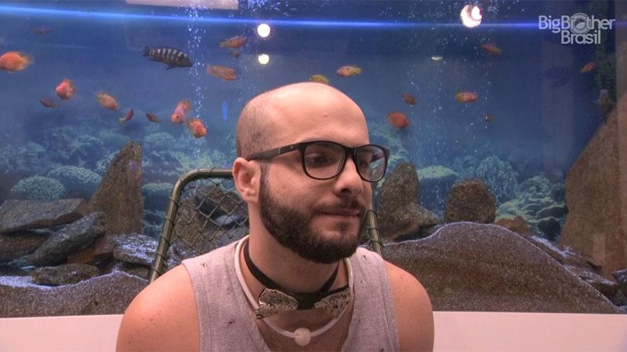 Mahmoud está no paredão e defende permanência na casa - Reprodução/GloboPlay