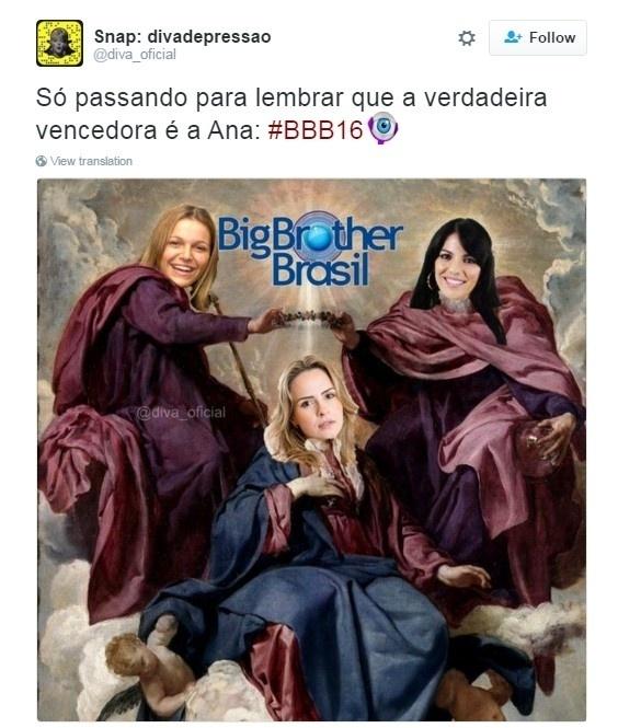 5.abr.2016 - Ana Paula, Anamara e Tina são lembradas na final do